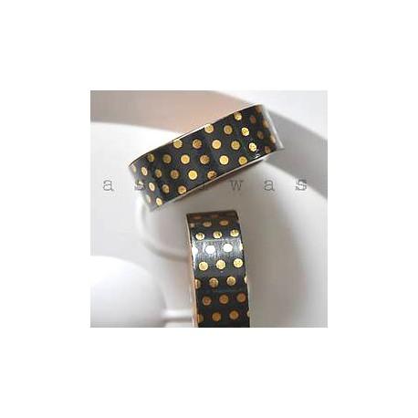 washi páska zlaté bodky na čiernej