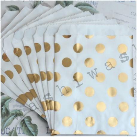 papierový sáčok zlatá bodka