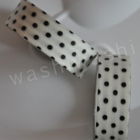 washi páska čiernobiela bodka
