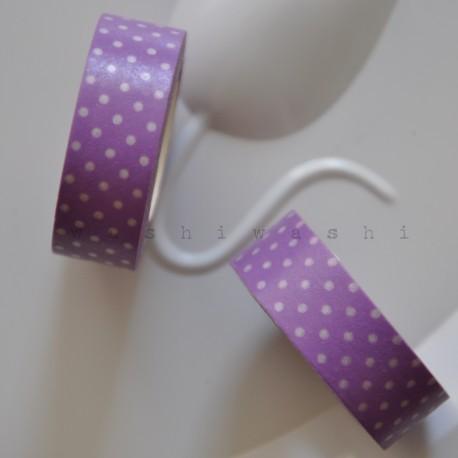 fialovo biela bodka