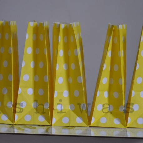 papierovy sáčok žltá bodka