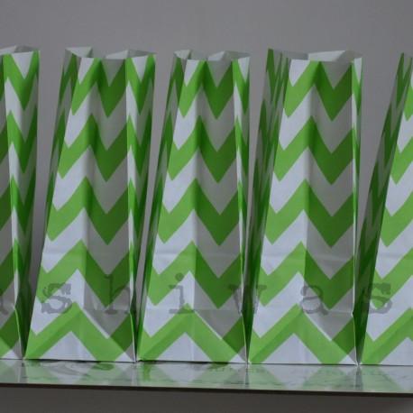 papierovy sáčok zelený cik cak
