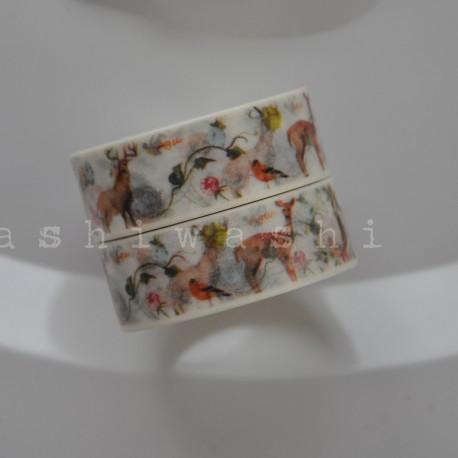 washi páska kvety a zajace