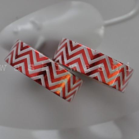 washi páska červeno biely pruh lesk
