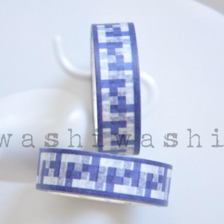 washi páska modrá čipka